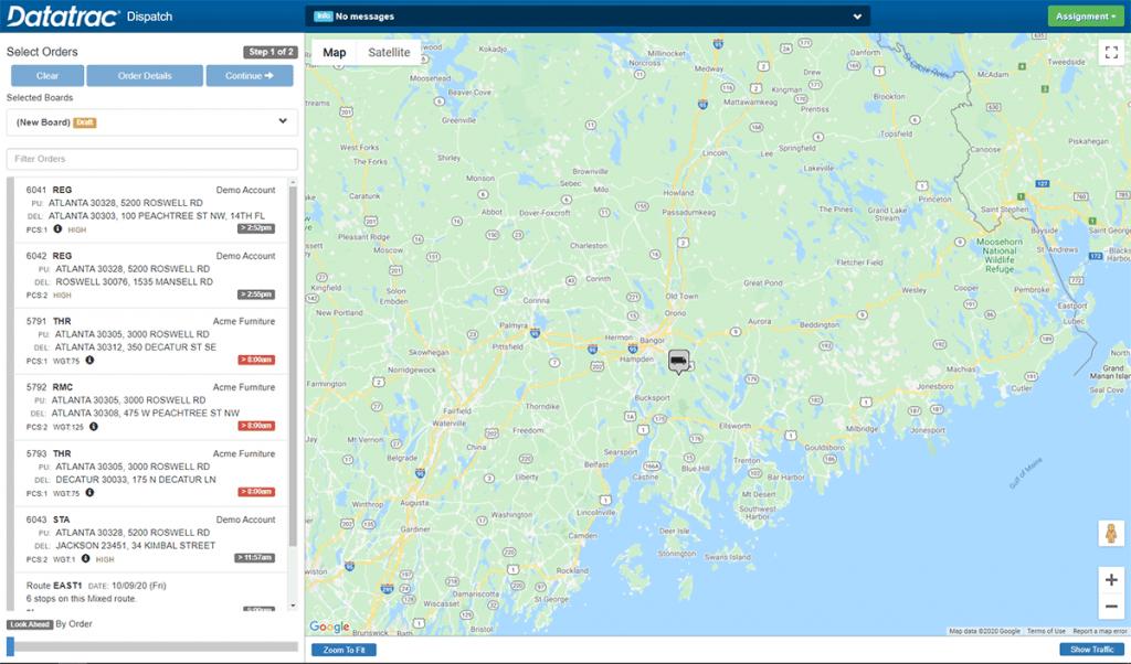 Basic Dispatch Map